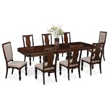 Vienna Dining Table 6 Side Chairs And 2 Upholstered