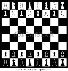Chess Board Layout Of A In Black And Vector