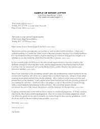Letter Intent Sample format for Job
