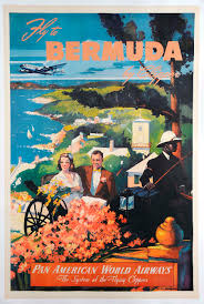 Fly To Bermuda By Clipper Pan American World Airways Poster