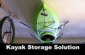 Best Kayak Ceiling Hoist by Diy Kayak Storage Solution Pulley System Youtube