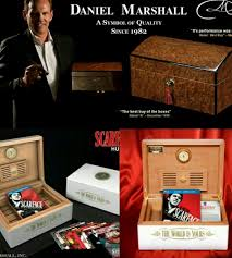 100 Daniel Marshall Scarface Ltd Edition White Lacquer Humidor 100