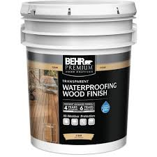 Thompsons Waterseal Deck Wash Msds by Behr Premium 5 Gal Natural Clear Transparent Waterproofing Wood