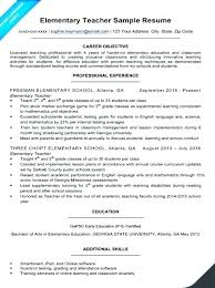 Sample Of Resume Teacher Ideas Pro