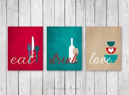 Kitchen Wall Art Print Set