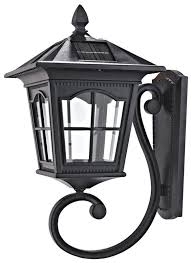 motion activated outdoor wall light 13 high black led