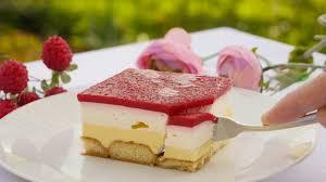 rezept himbeer schnitten mit vanillecreme kuchen ohne backen