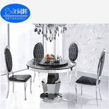 Second Hand Black Lacquer Dining Room Furniture CT836