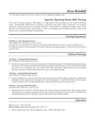 Nurse Resume Free Sample Operating