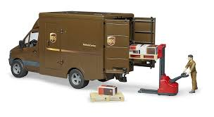 02538 1/16 UPS MB Sprinter Truck With Pallet Jack & Accessories ...