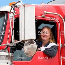 100 Female Truck Driver In A Big Rig Stock Photo Download