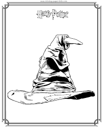 Sorting Hat Harry Potter Color Page Cartoon Characters Coloring Pages Plate