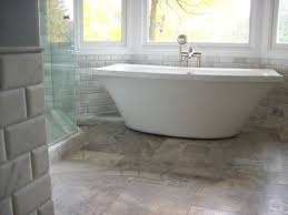 Groutless Porcelain Floor Tile by Tiles Create Ambience Your Desire With Travertine Tile Bathroom