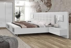 bett futonbett bettgestell nachtkonsolen 160x200cm weiß hochglanz mordern