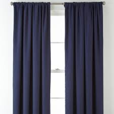 jcpenney home twill thermal rod pocket back tab curtain panel