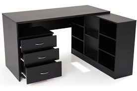 bureau pas chere bureau en imitation bois noir avec retour flash bureau pas cher
