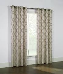 Traverse Rod Curtain Panels by Lisbon Silver Jacquard Grommet Panel Couture