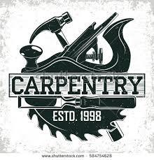Vintage Woodworking Logo Design Grange Print Stamp Creative Carpentry Typography Emblem Vector