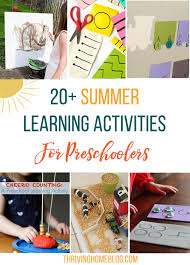 Great Roundup Of Summer Learning Activities For Preschoolers Lots Easy Free Ideas Included