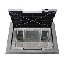 Wiremold Floor Box Cover Colors by Wiremold Legrand Af1 Kt Raised Floor Box W Black Tile Cover