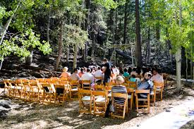 Outdoor Wedding At Las Vega Ski And Snowboard Resort In The Woods Mt Charleston