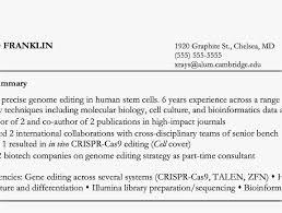 Paraprofessional Cover Letter Photo Molecular Biology Skills Resume Adorable Postdoctoral 2018