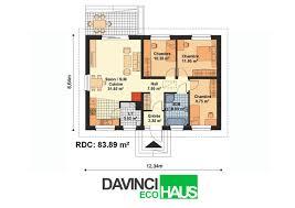 plan maison plain pied 2 chambres maison plain pied en ossture bois écologique