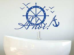 wandtattoo badezimmer ahoi anker steuerrad bad aufkleber maritime deko tür tatto