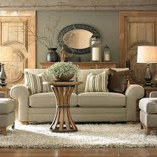 Brown Couch Living Room Decor Ideas by Wood Accessories Mirror With Dark Frame Light Neutral Couch And