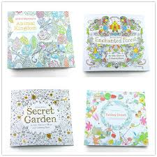 Secret Garden Fantasy Dream Enchanted Forest Animal Kingdom Coloring Book Adult Lot 24 Pages