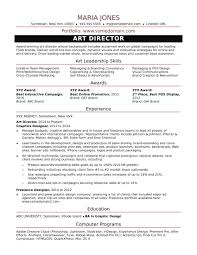 Resume Templates Creative Director Art