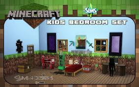 Minecraft Kids Bedroom Set New Meshes UPDATED