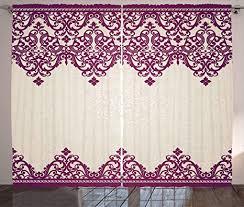 abakuhaus türkisch muster rustikaler gardine rokoko spirale schlafzimmer kräuselband vorhang mit schlaufen und haken 280 x 260 cm beige