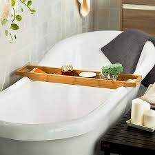 sobuy schöne badewannenablage aus hochwertigem bambus bambusregal frg18 n