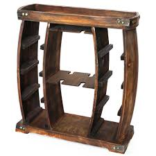 100 Glass Racks For Trucks Vintiquewise 8Bottle Brown Rustic Wooden Wine Rack With Decorative