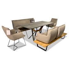 essgruppe tisch t1003 4f mit 2 bänken 2 stühlen kleo leder