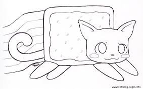 Nyan Cat By Kitty Coloring Pages