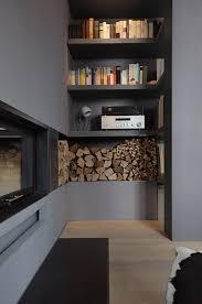 wohnung k49 kamin mit regal modern wohnzimmer