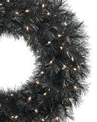 Christmas Tree Wreath Made With Deco Mesh Tuxedo Black