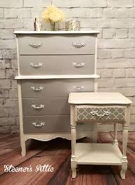 Kent Coffey French Provincial Dresser by Refinished French Provincial Dresser And Nightstand Metallic