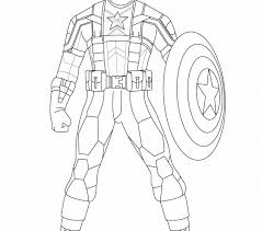 Captain America Coloring Page Free Printable Pages For Kids Images