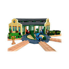 tidmouth sheds thomas and friends wooden railway train roundhouse
