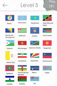 Flags Quiz Answers Level 5 Part 2
