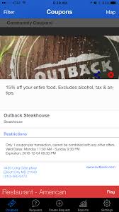 Coupon From Outback Steakhouse, Ellicott City, MD On MyCustomCoupon! Can I Eat Low Sodium At Outback Steakhouse Hacking Salt Gift Card Eertainment Ding Gifts Food Steakhouse Coupon Bloomin Ion Deals Gone Wild Kitchener C3 Coupons 1020 Off Coupons Free Appetizer Today Parts Com Code August 2018 1for1 Lunch Specials Coupon From Ellicott City Md On Mycustomcoupon Exceptional For You On The 8th Day Of