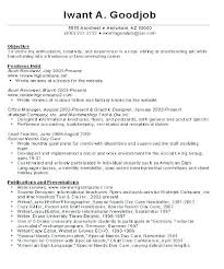 Career Resume Examples Objective For Job Of Goals Change Co Free Download