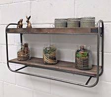 Metal Wall Shelf Industrial Style Vintage Rustic Storage Unit Rack