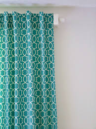 Geometric Pattern Grommet Curtains by Remodelaholic Simple Sewn Back Tab Curtains