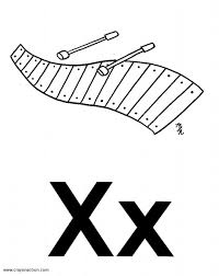 Main Image For The X Is Xylophone Coloring Page