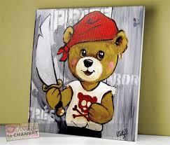 tableau ourson chambre bébé exceptionnel peinture chambre bebe garcon 7 tableau ourson dco