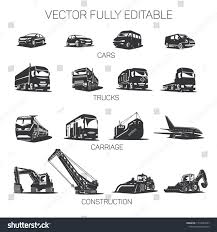 Vector Transport Cars Trucks Construction Equipment Stock Vector ...